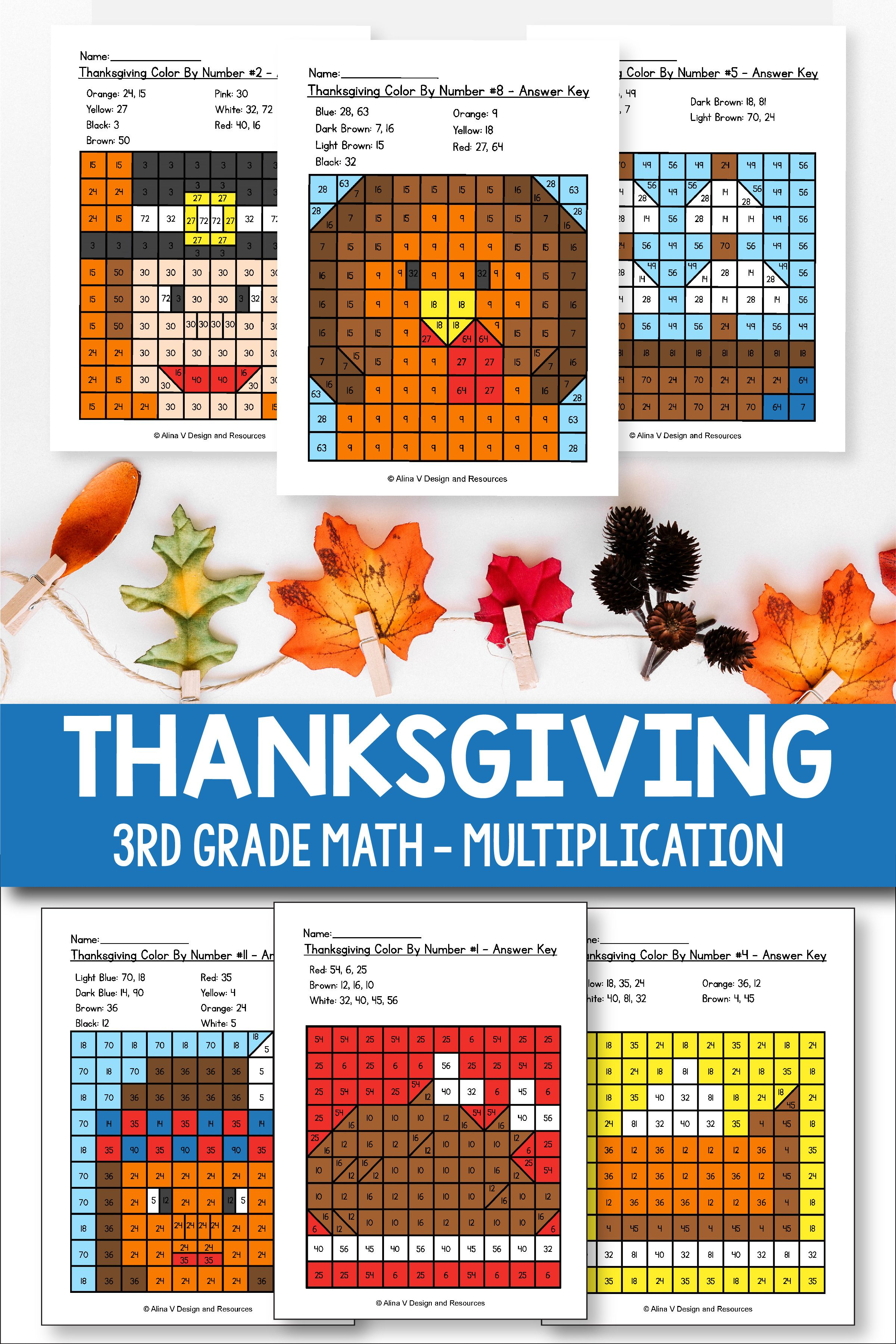 Thanksgiving Multiplication Math Worksheets For 3rd Grade Kids Is Fun With These Hun Thanksgiving Math Worksheets Thanksgiving Math Thanksgiving Multiplication [ 3601 x 2401 Pixel ]
