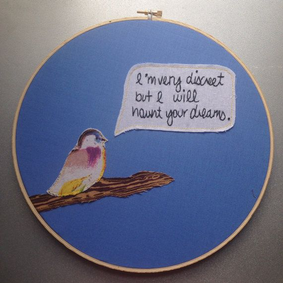 i'm very discreet  hand embroidered 40 year old by cookoorikoo, $34.00