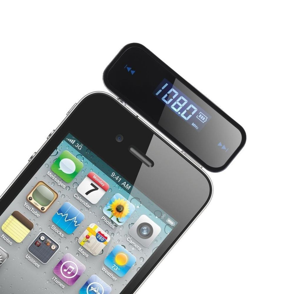 3.5 mm Incar FM Transmitter Radio Adapter for iPhone