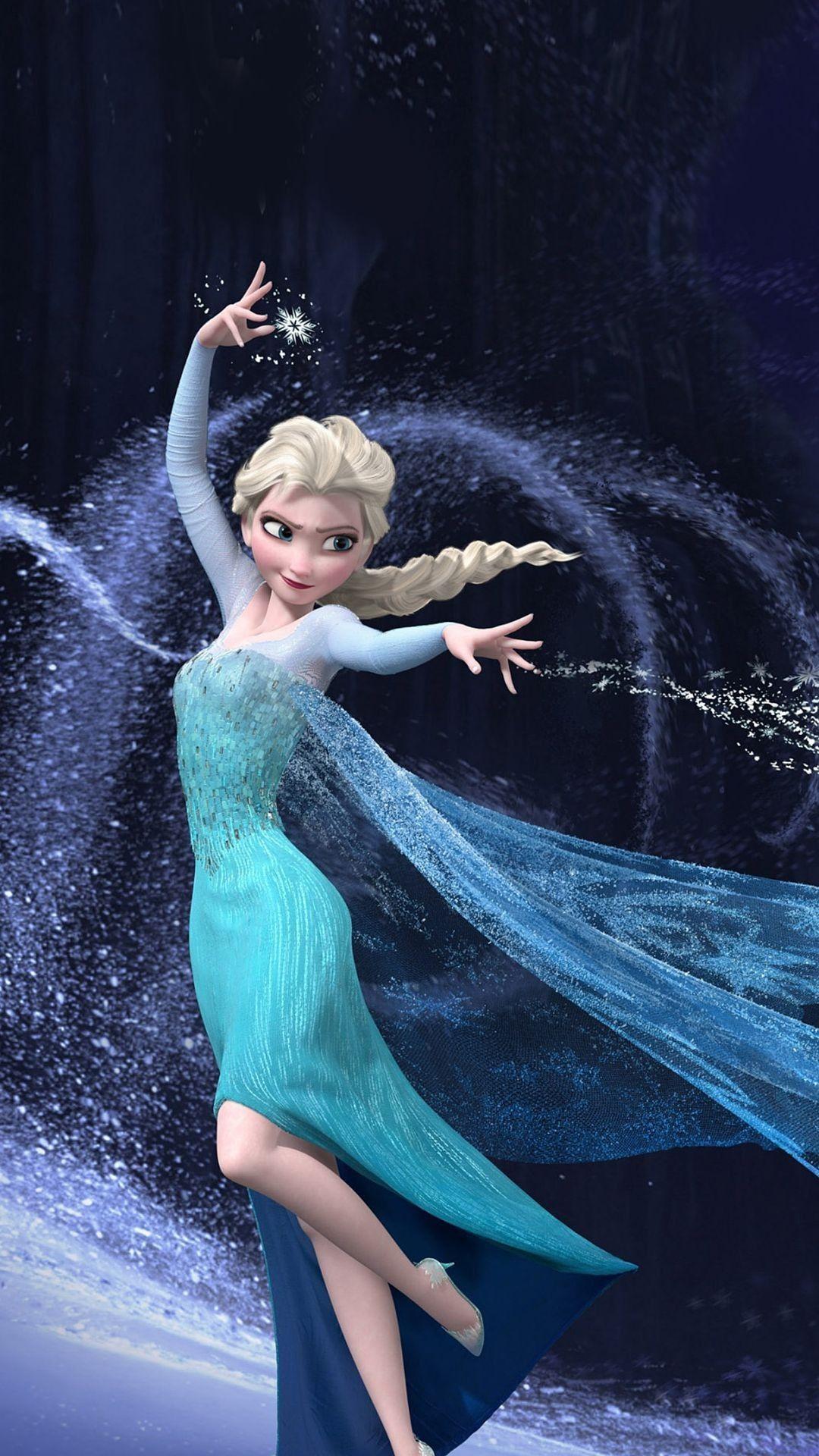 2014 Christmas Blue Glitter Dress Queen Elsa iPhone 6 Plus