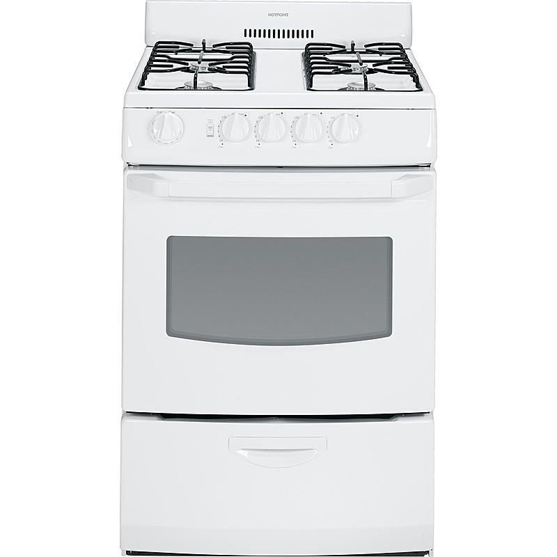 Hotpoint - RGA824DEDWW - 3.0 cu. ft. Freestanding Gas Range - White | Sears Outlet