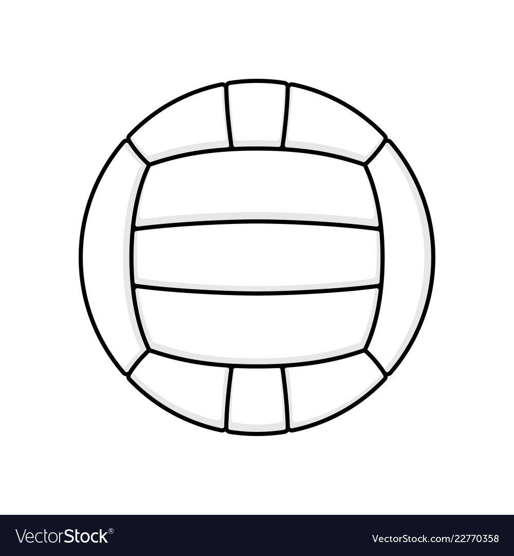 Volleyball Symbol White Royalty Free Vector Image Affiliate White Symbol Volleyball Royalty Ad Vector Free Ancient Viking Symbols Icon Set Vector