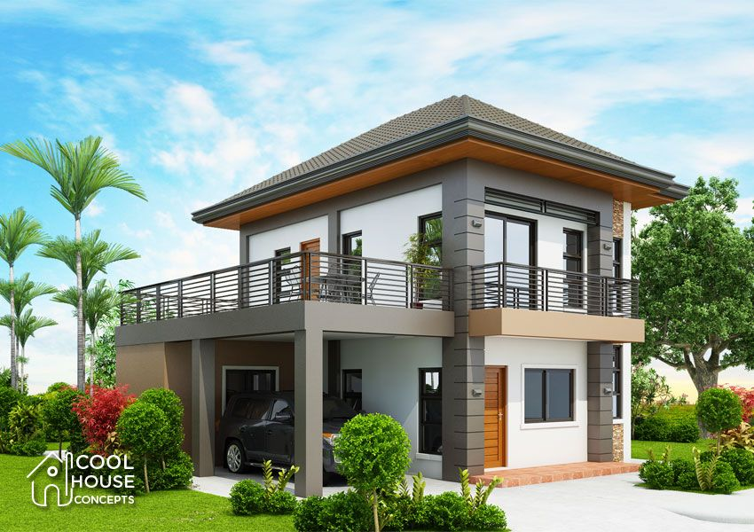 Three Bedroom Contemporary House With Spacious Terrace Cool House Concepts One Storey House 2 Storey House Design Two Story House Design