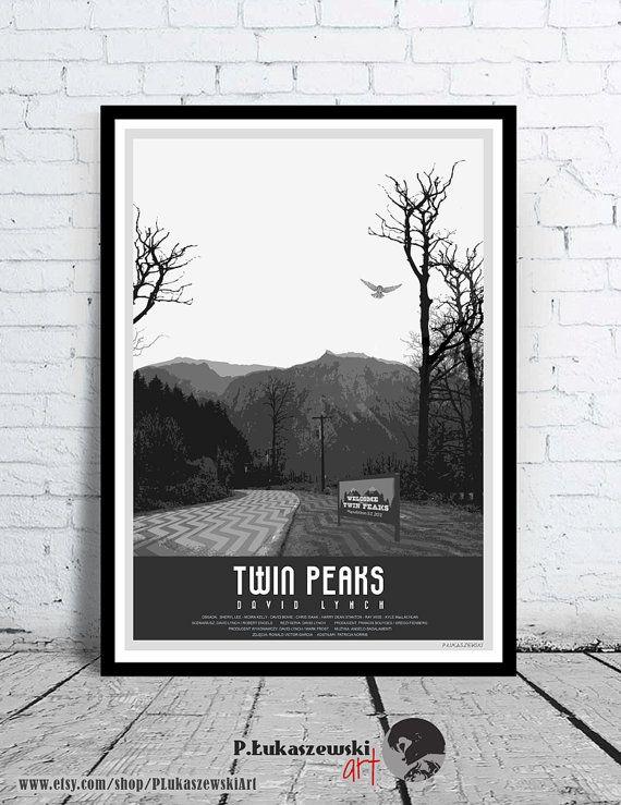 TWIN PEAKS - David Lynch - movie poster / print [ Sheryl Lee Lara Flynn Boyle Madchen Amick David Bowie Kyle MacLachlan Sherilyn Fenn ] 1992