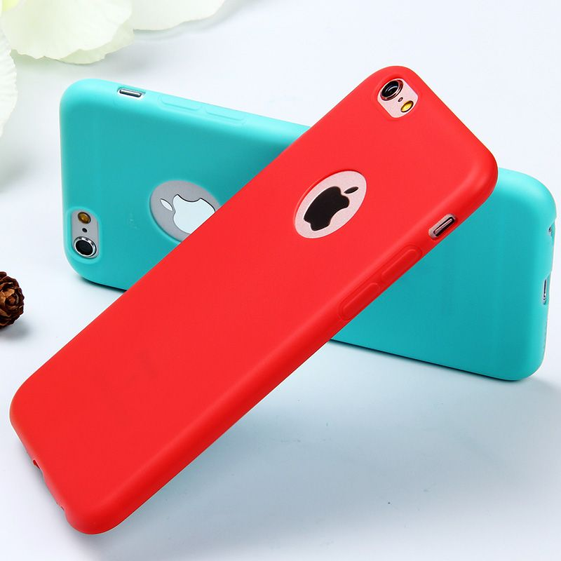 Case 대한 iphone 6 6 s/5 5 초 se/6 초 플러스 candy 색상 부드러운 tpu 실리콘 case 6 초 5 초 6 초 5se 다시 커버 귀여운 사랑스러운 Coque
