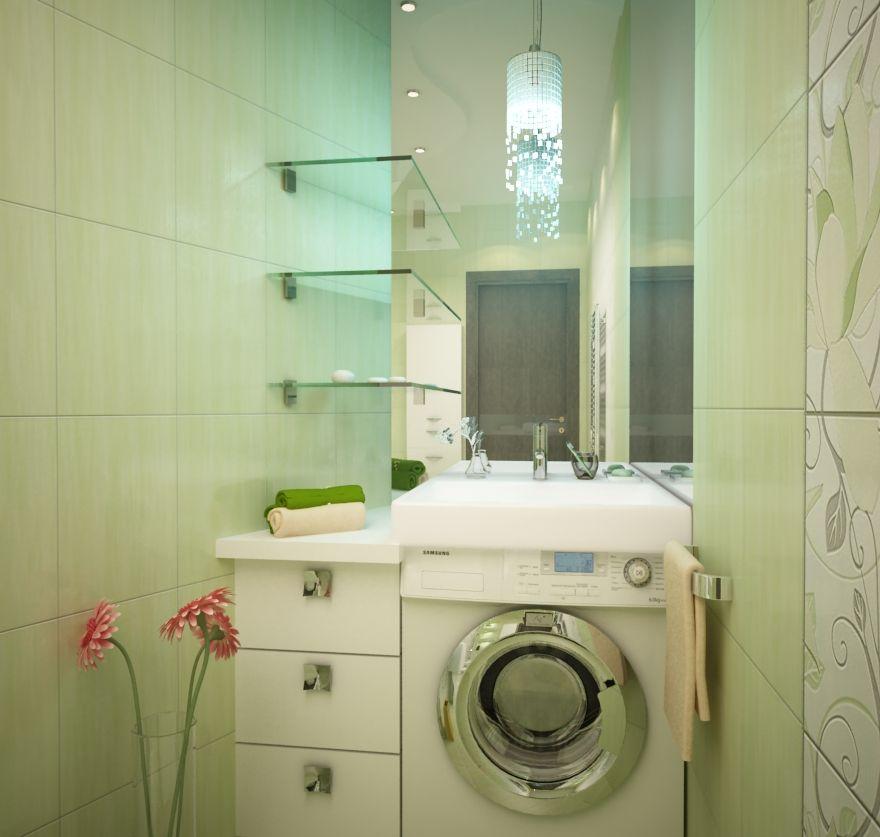 дизайн ванной комнаты 3 кв м без туалета фото