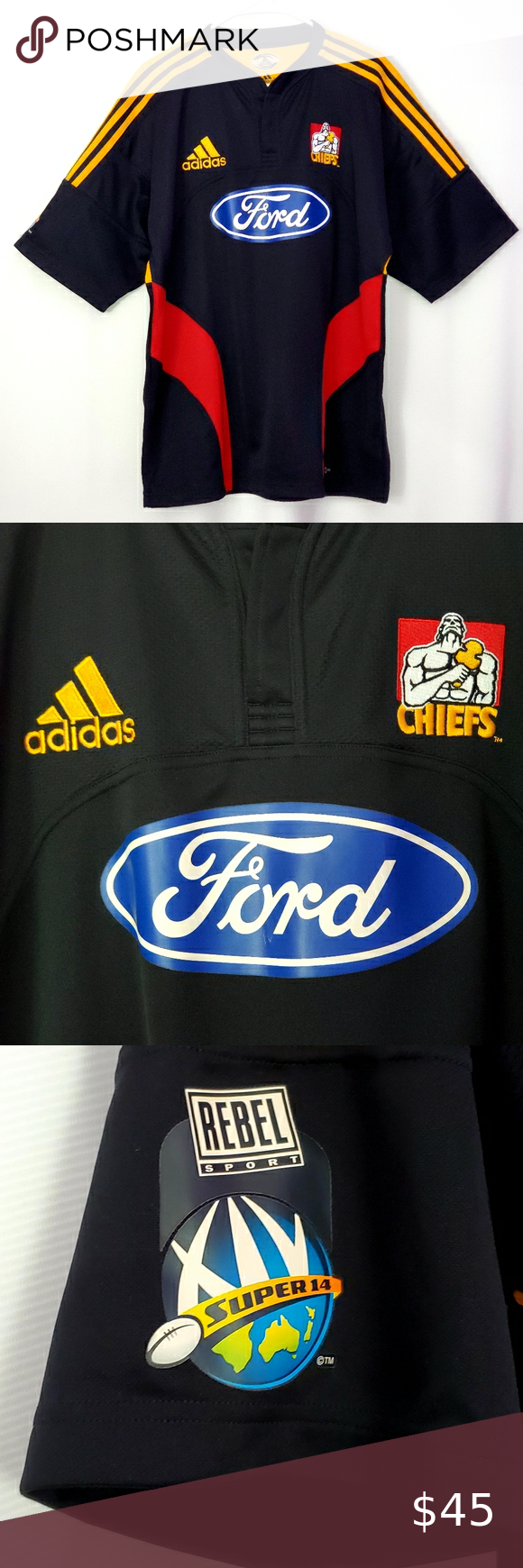 Adidas New Zealand Rugby Ford Chiefs Jersey in 2020 (With