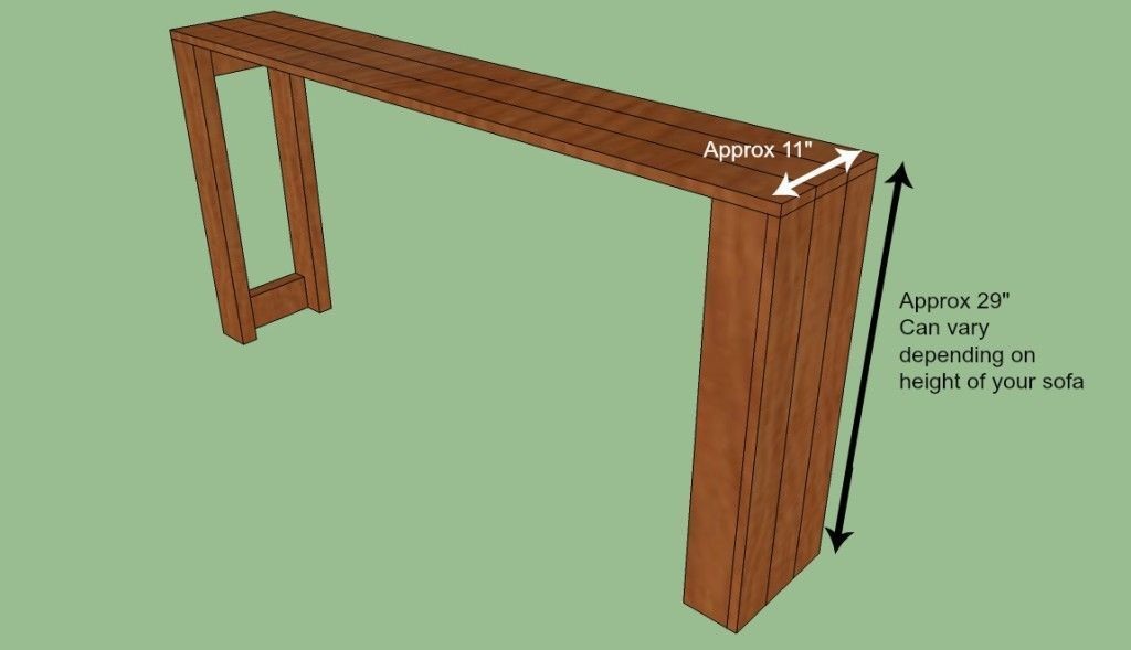 Plans For Diy Console Table Bartablesdiy Diy Sofa Table Diy Console Table Diy Sofa