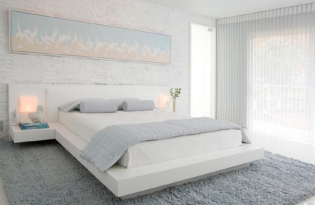 White modern and minimalist bedroom interior design ideas