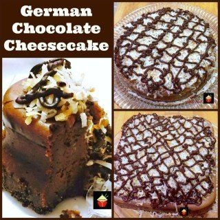 German Chocolate Cheesecake. Oh boy! This is a wonderful recipe with a rich chocolate flavor. Every chocolate lover's dream!   Lovefoodies.com