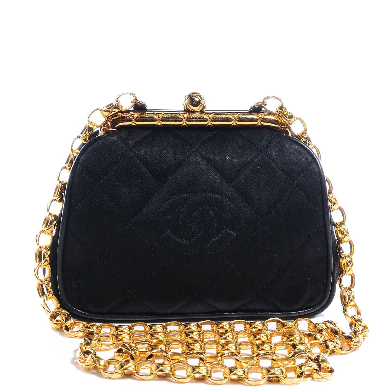 6530d81146781e CHANEL Satin Framed Mini Evening Bag Black | Clutch Clutch Clutches ...