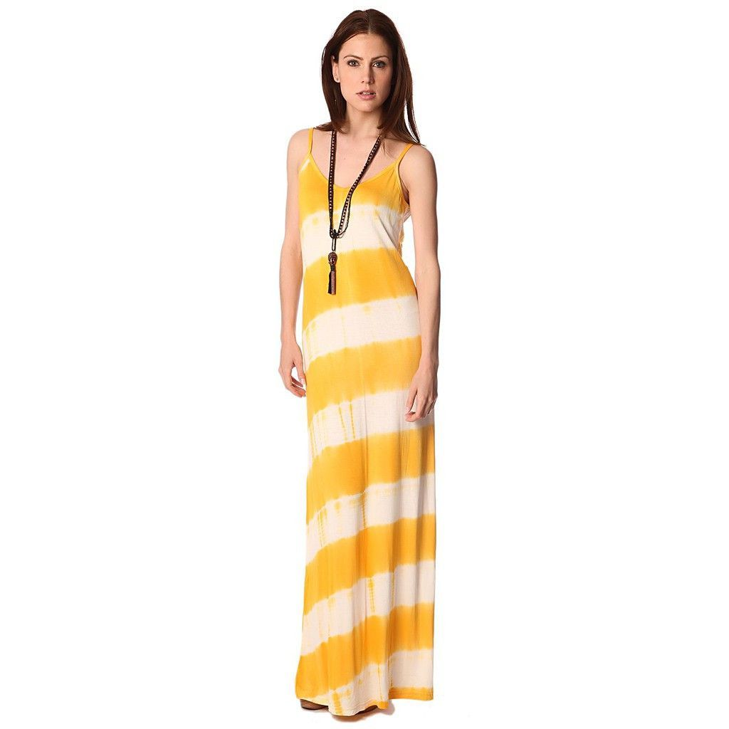 Yellow maxi dress in tie dye print yellow maxi dress and products
