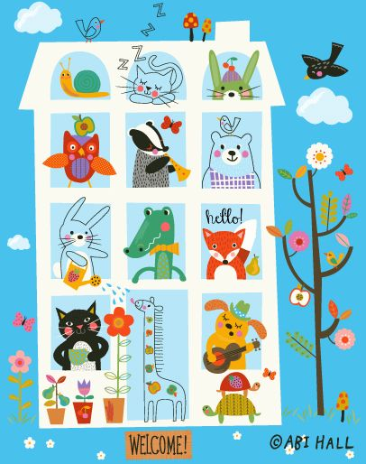 Happy Town House by Abi Hall.