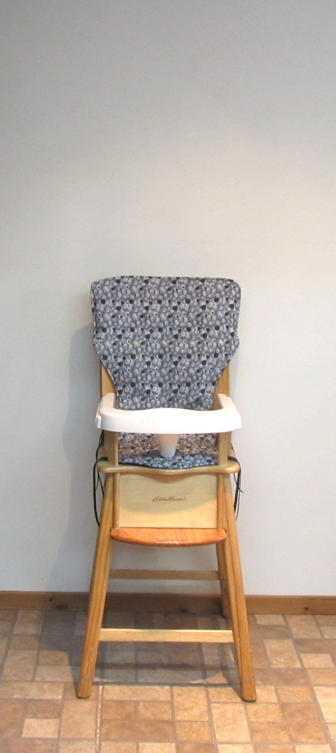 High Chair Pad Bubbles On Gray Eddie Bauer Baby Accessory Chair