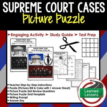 Pin On Learned Lessons Supreme court case studies worksheets
