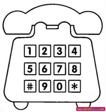 ücretsiz Indirin Telefon Tuşları Boyama Okul öncesi