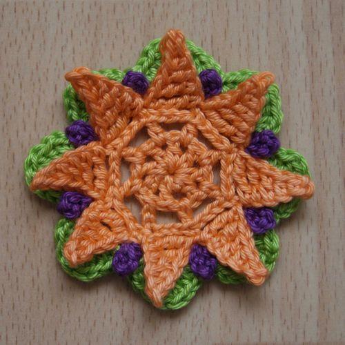 Crochet Flower Pattern 8 Petalsee Pdf Download