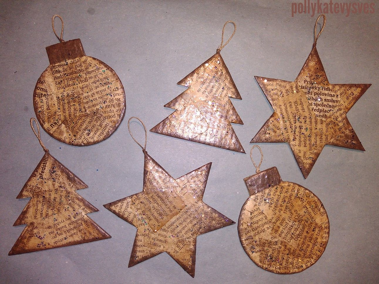Foil Star Decorations Embroidery