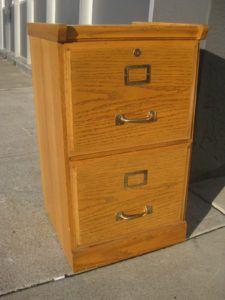 Unique Oak Lateral File Cabinet 2 Drawer