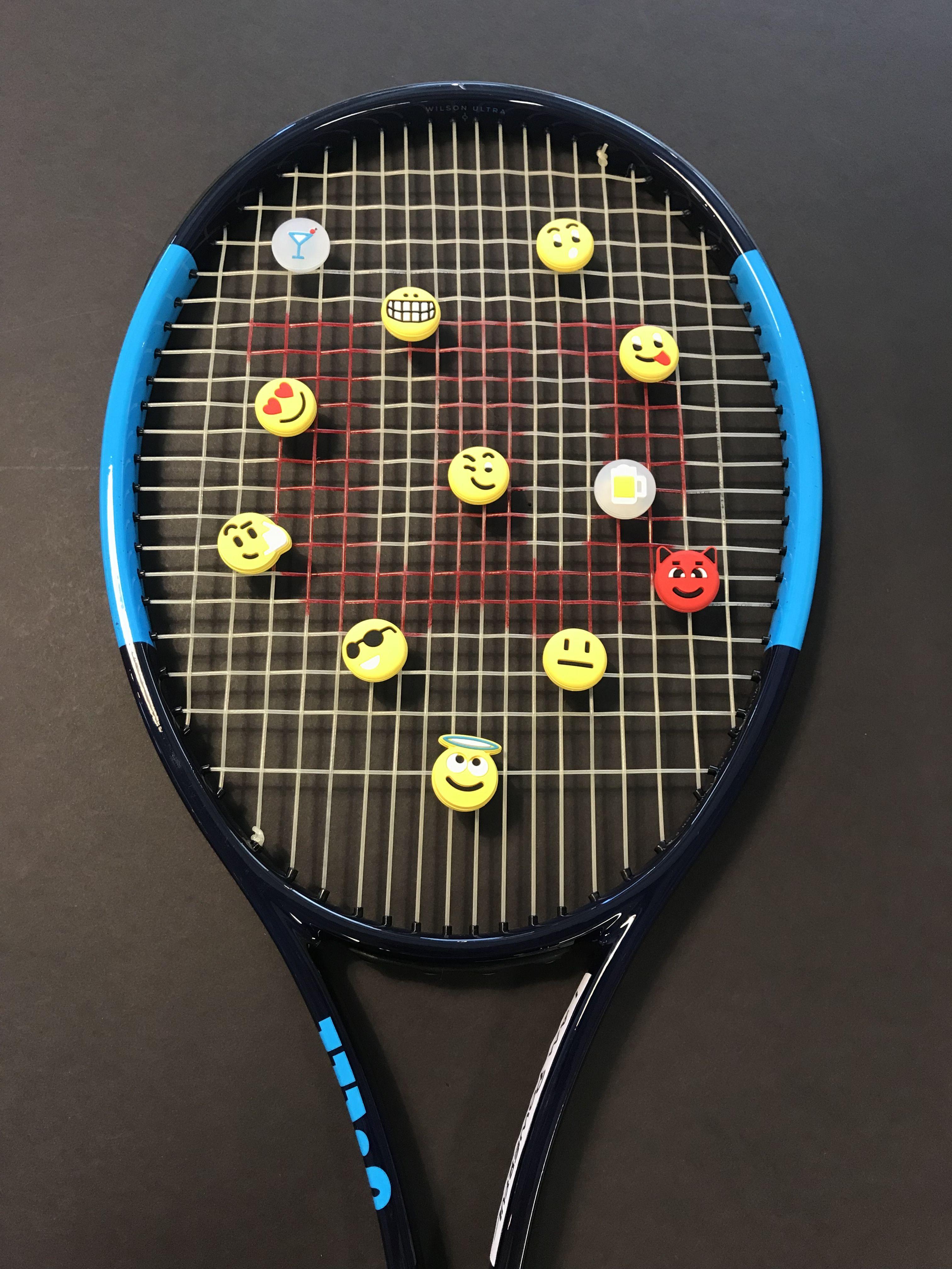 Emoji Vibration Dampeners Spring Camping Colorado Springs Camping Tennis Racket