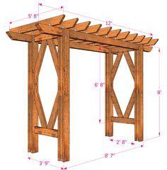 Simple Diy Pergola Grape Arbor Free Building Plan Diy Pergola Diy Arbour Outdoor Pergola