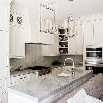 Creamy White Kitchen Island With Super White Quartzite Countertops | F 32  Kiev Flat | Pinterest | Super White Quartzite, Quartzite Countertops And  White ...