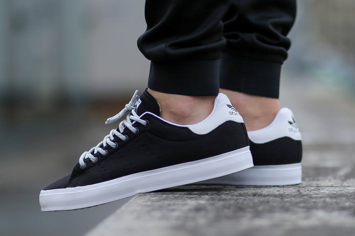 "buy online bfe32 e00d8 adidas Stan Smith Vulc ""Core Black   Footwear White"""