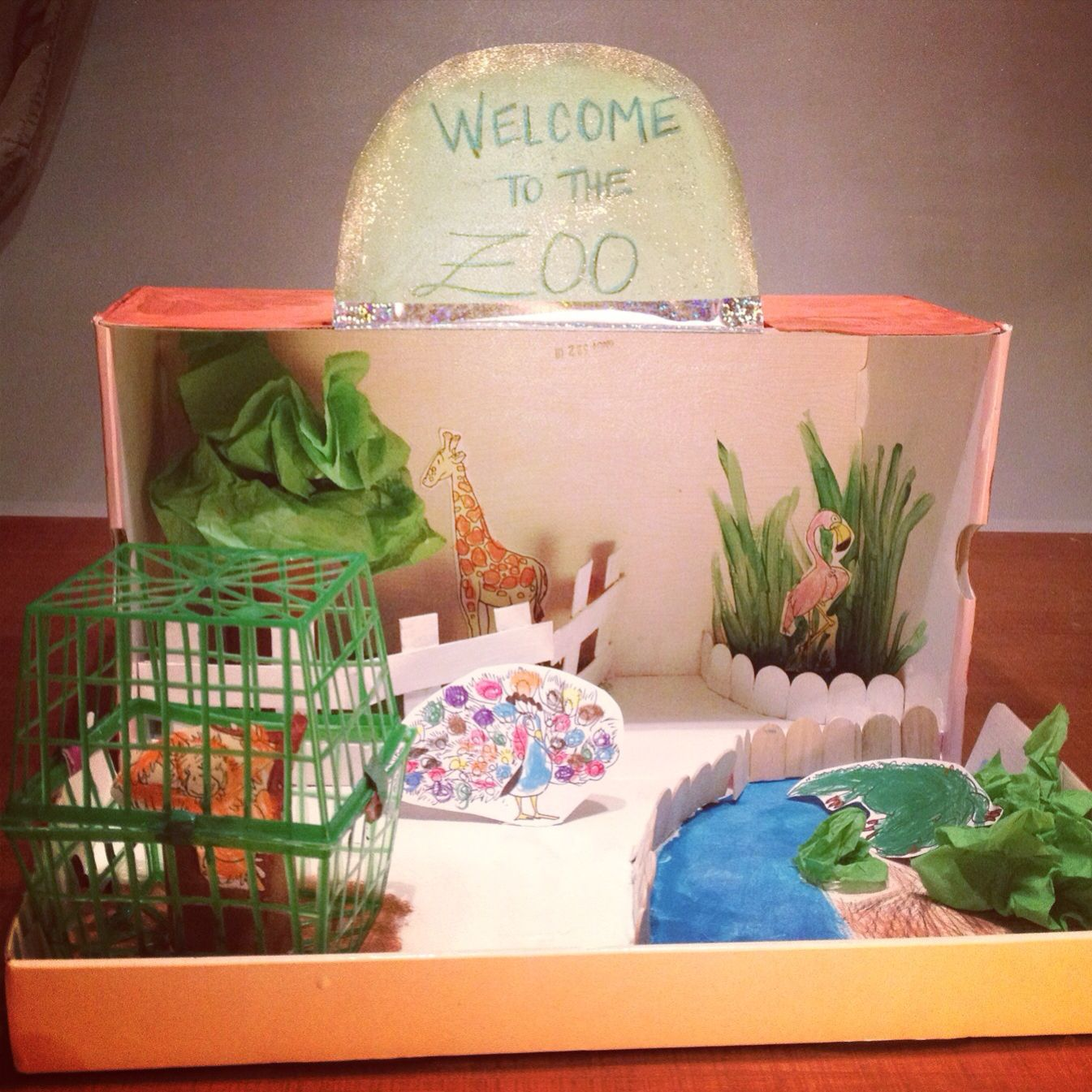 Creating A Zoo Diorama From Shoe Box