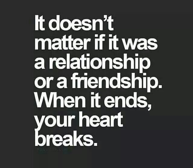 Broken Friendship Thoughts