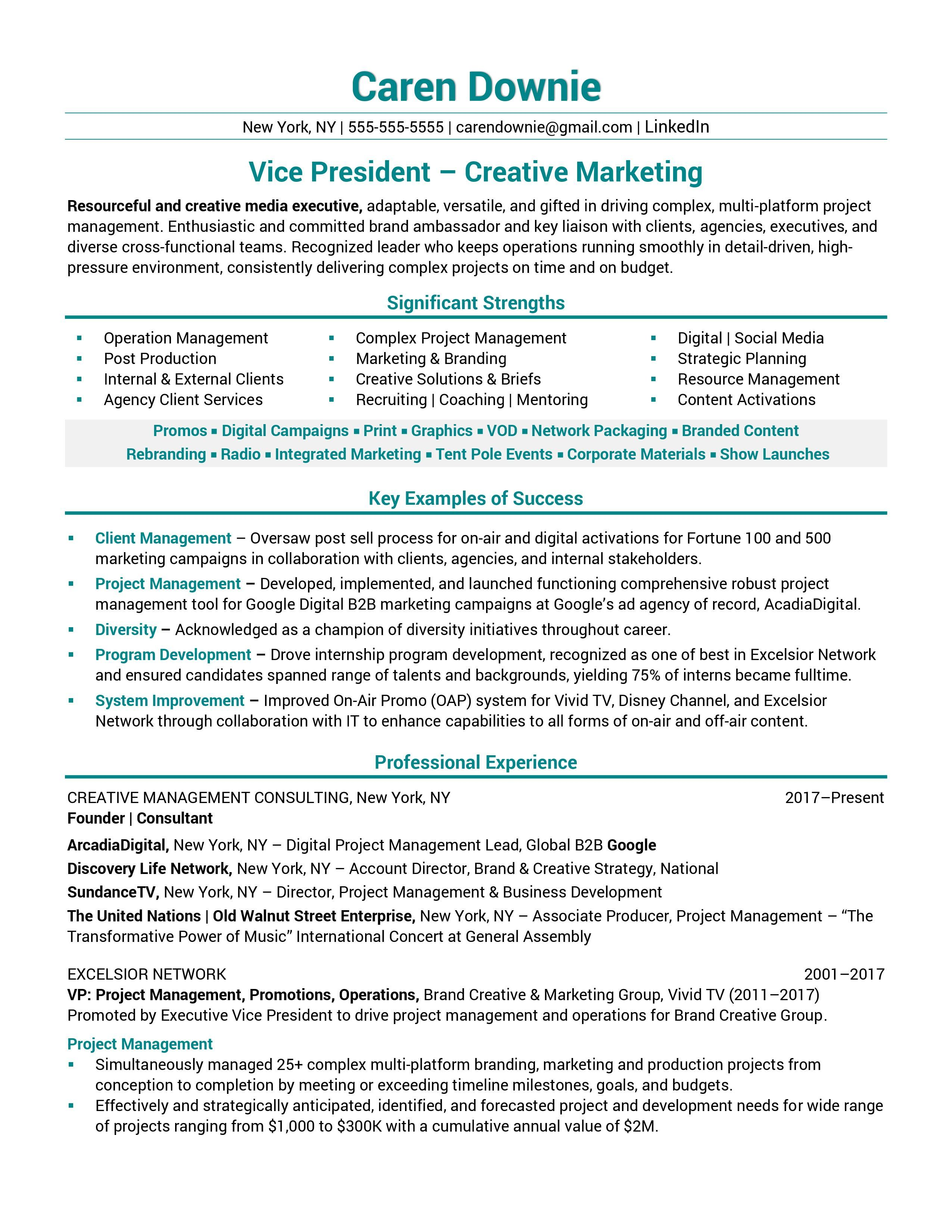 Good Resume Examples For First Job