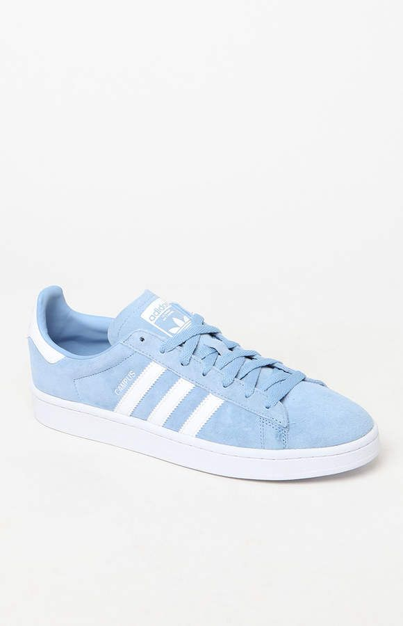adidas Blue and White Campus Shoes