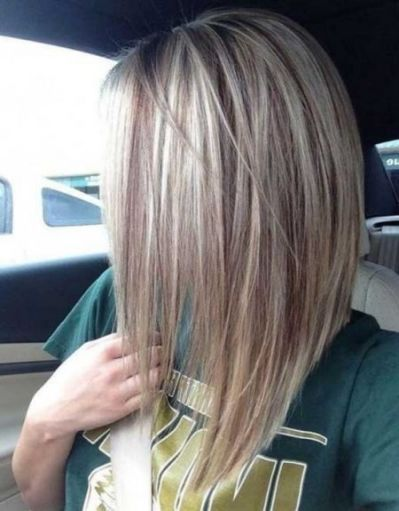 long stacked bob haircut pictures | Straight blonde hair, Long bob hairstyles, Stacked bob ...