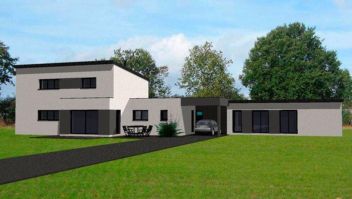 plan maison contemporaine | arquitectura | Pinterest