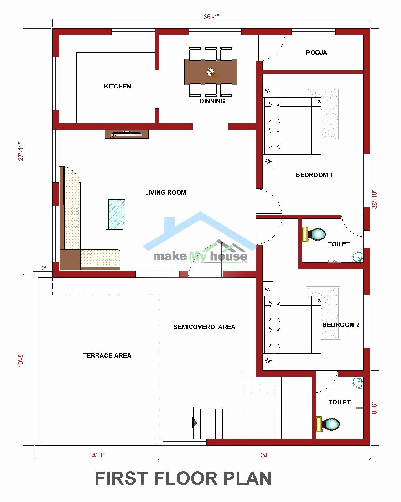 40 X 50 House Plans Best Of Floor Plan For 40 X 50 Feet Plot Kayleighdickinson Best My House Plans House Plans Ranch House Plans