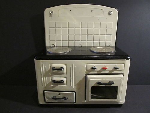 vintage mfz fuchs tin toy kitchen stove germany kitchen stove toy kitchen and toy. Black Bedroom Furniture Sets. Home Design Ideas