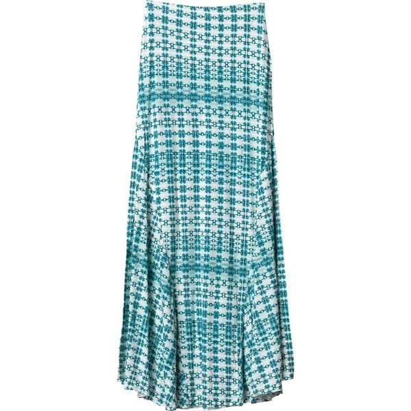 RVCA Surreals Maxi Skirt ($22) ❤ liked on Polyvore featuring skirts, long maxi skirts, long blue skirt, long floor length skirts, long ankle length skirts and floor length skirt