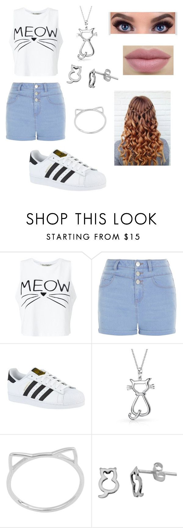 """""""The cats meaw🐱🐱"""" by mildred140501-1 ❤ liked on Polyvore featuring beauty, Miss Selfridge, New Look, adidas, Bling Jewelry, Midsummer Star and Itsy Bitsy"""