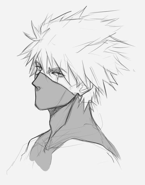Kakashi Naruto Sketch Naruto Drawings Naruto Art