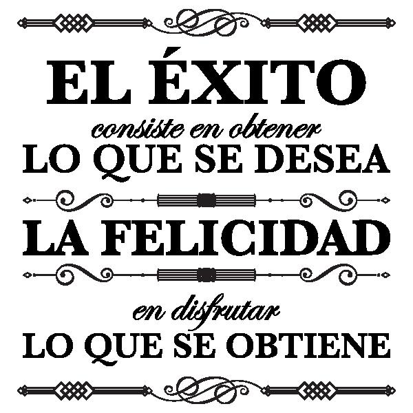 Vinilos Decorativos Citas El Exito Y La Felicidad Q Quotes