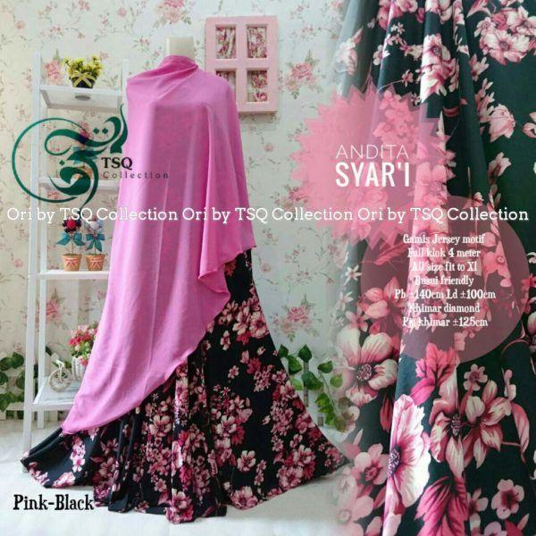 Baju Muslim Cantik Andita Syar'i Motif Bunga Terbaru - http://bajumuslimbaru.com/baju-muslim-cantik-andita-syari-motif-bunga