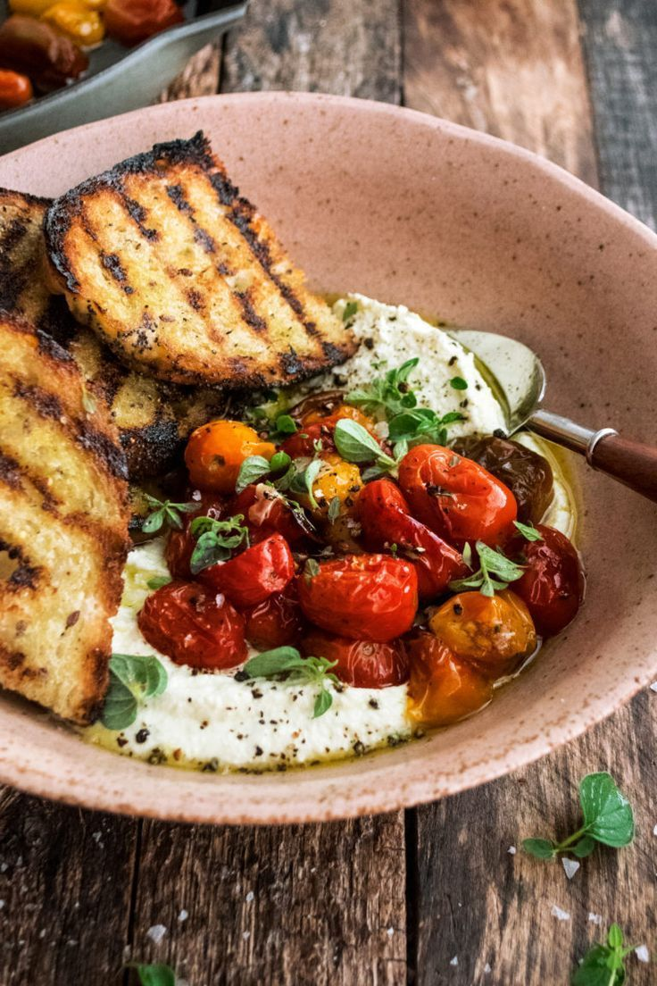 Whipped Feta with Roasted Tomatoes - The Original Dish