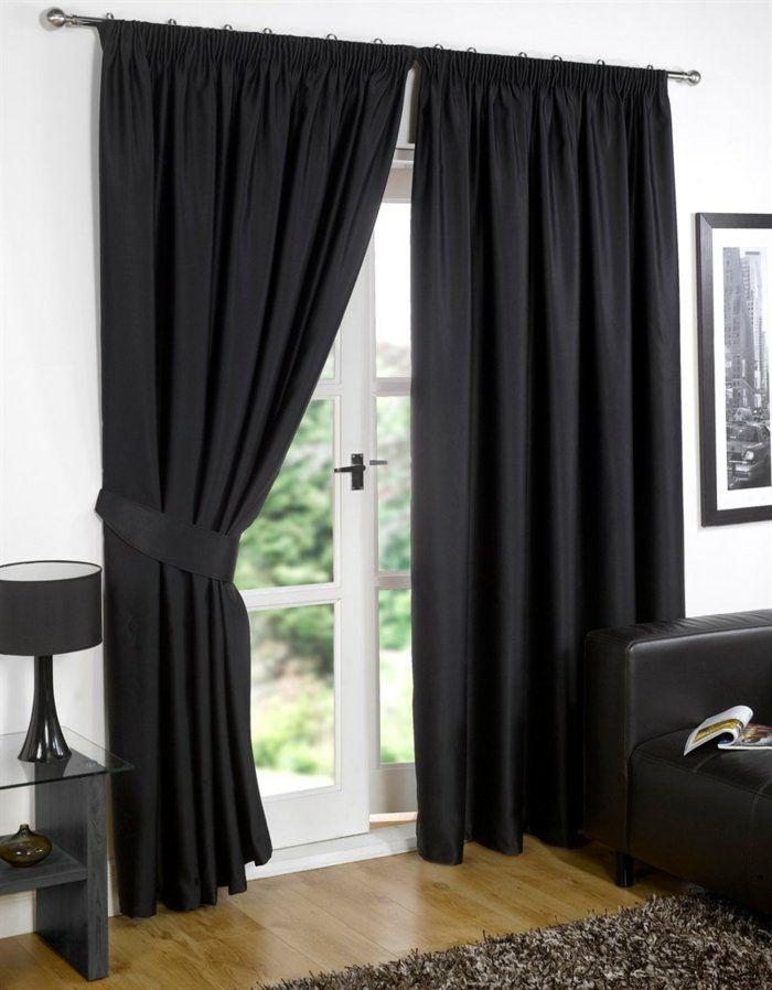 les rideaux occultants les plus belles variantes en photos rideaux et stores. Black Bedroom Furniture Sets. Home Design Ideas