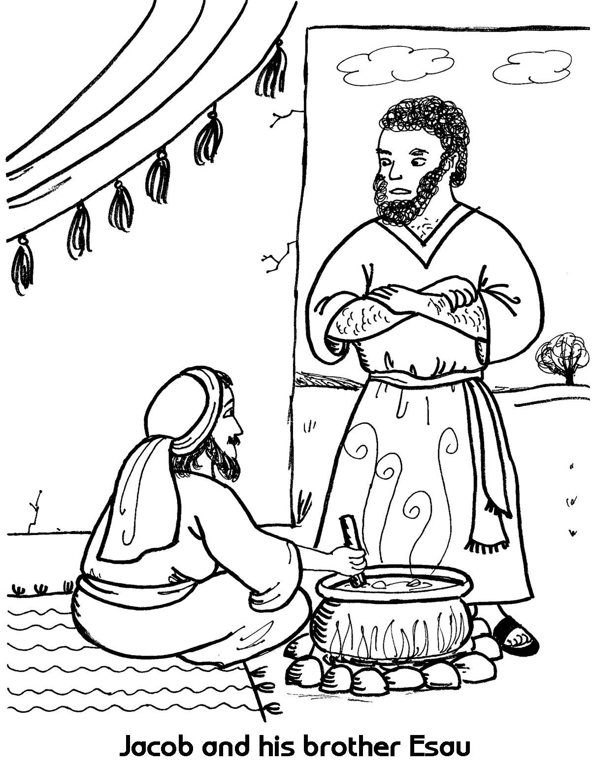 Free Jacob And Esau Coloring Page 25 For Online With