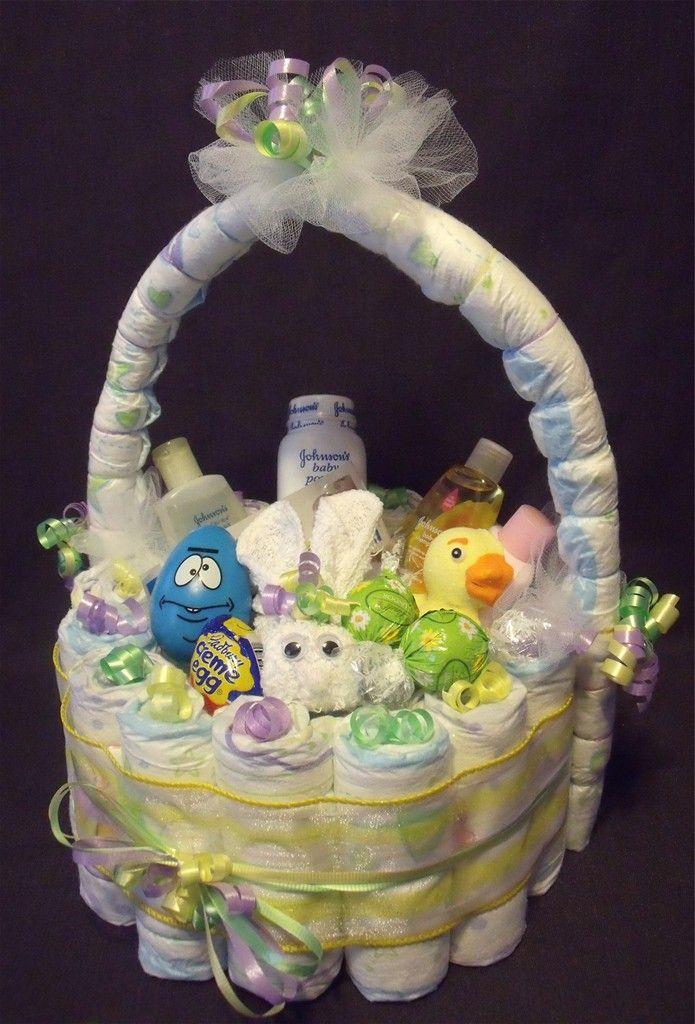 Judicakes Easter Basket Diaper Cake