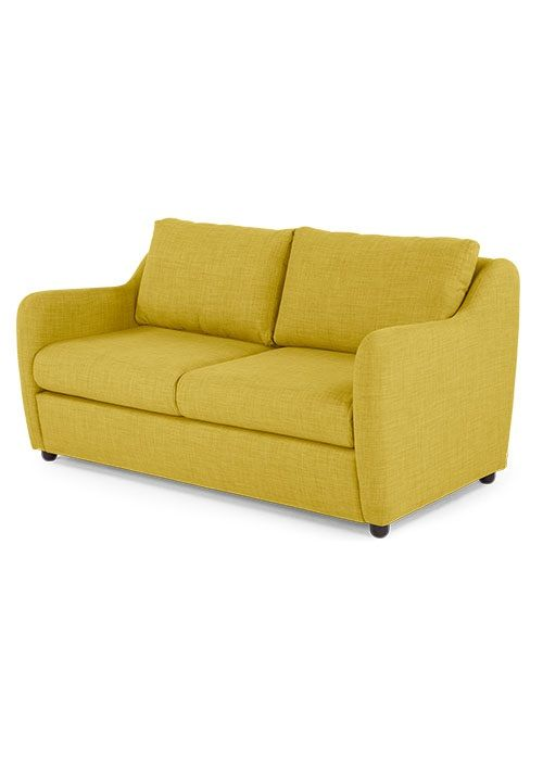 The Hamlyn 2 Seater Sofa, in Sulphur Yellow. A design by James Harrison. £599. MADE.COM