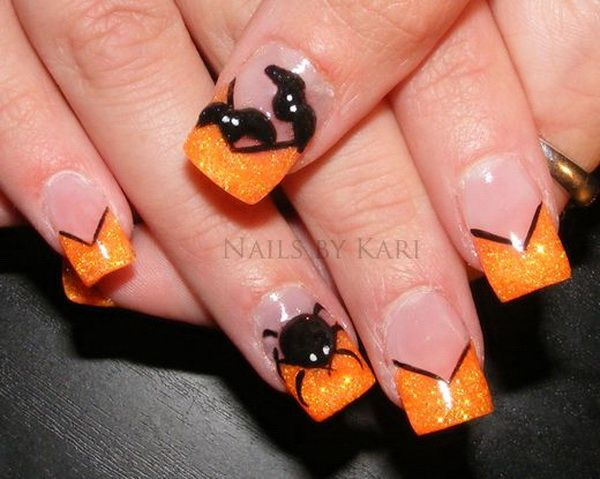 40 Cute And Spooky Halloween Nail Art Designs Halloween Nail