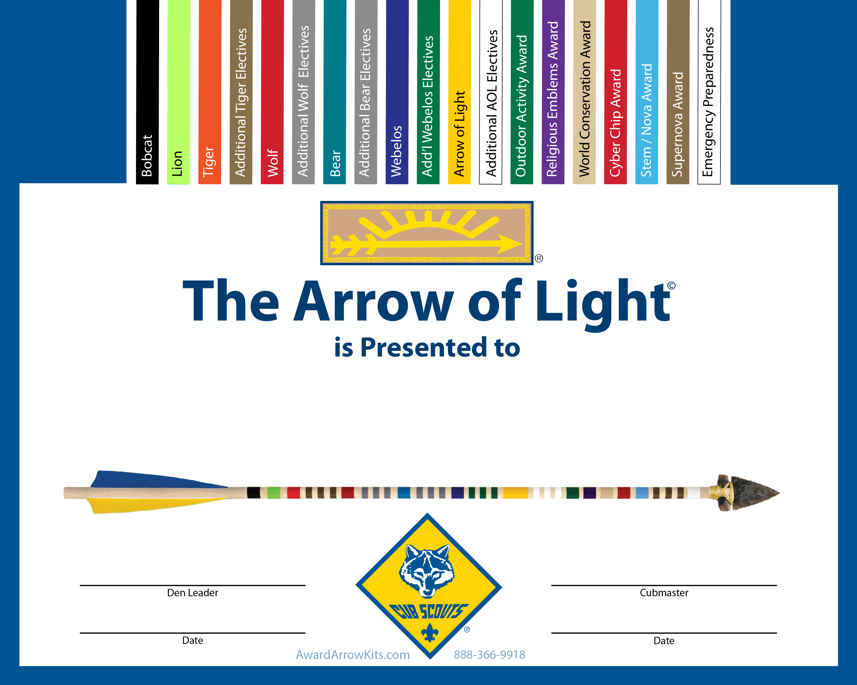 Order Your Complete Arrow of Light Kit Today Arrow of