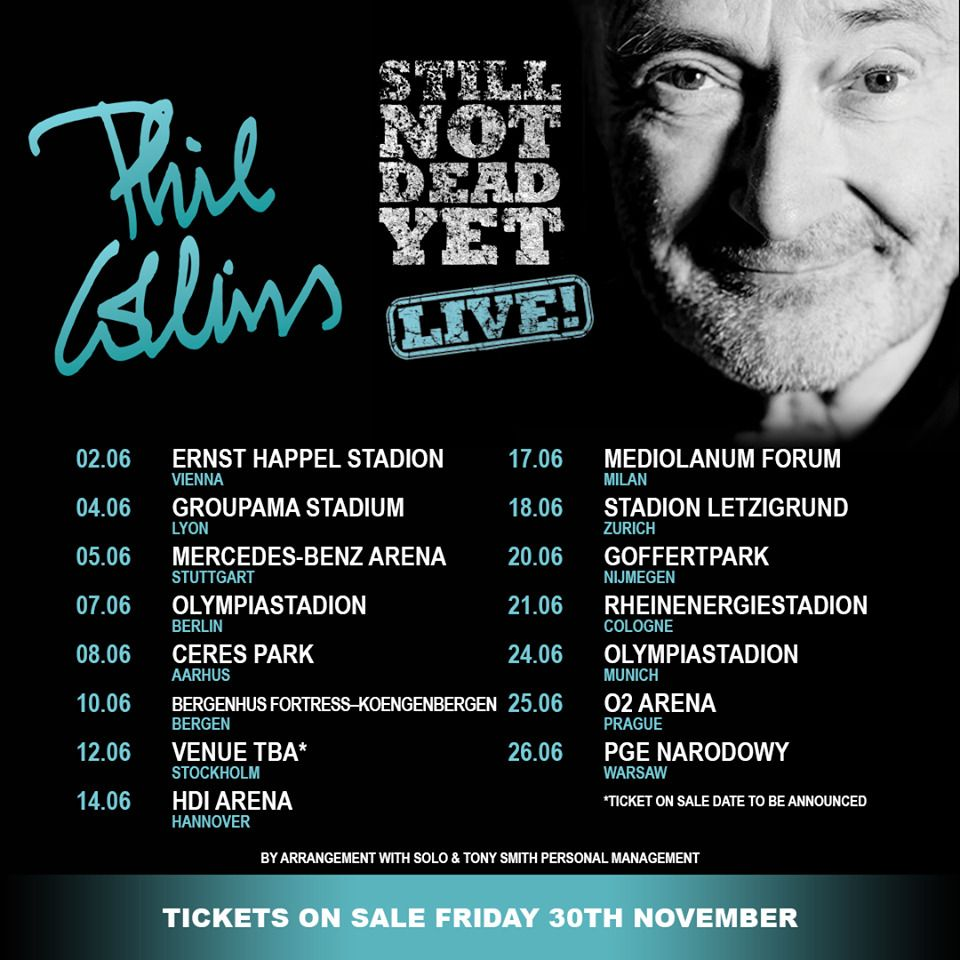 Phil Collins Live Tour In Hannover Hdi Arena 1 2 3 4 Tickets