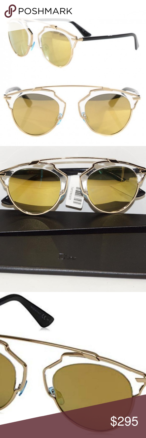 b9a9113845a I just added this listing on Poshmark  CHRISTIAN DIOR GOLD SUNGLASSES