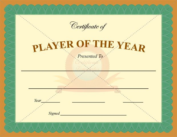 This Player Of The Year Certificate Template May Be The One That